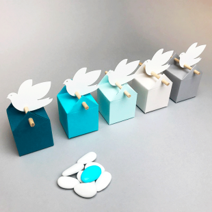 Kit Cumulus, favor boxes and labels