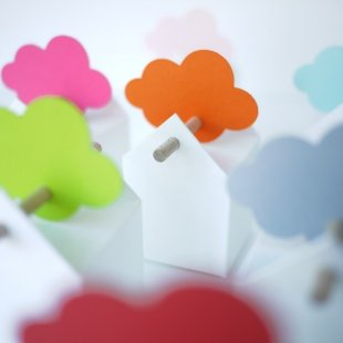 Cloud favour box tag