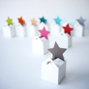 Star favour box tag