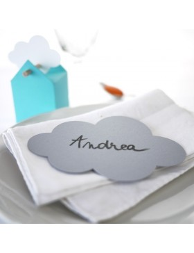 Cloud shaped place cards